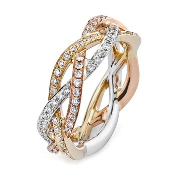 345246-Parade Entwined Bands Diamond Ring