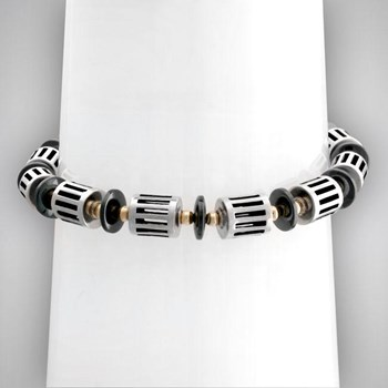 Hematite and Sterling Silver Bracelet-323321