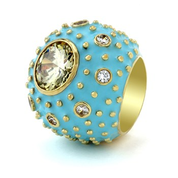 Baby Blue 'Rock N' Roll' Ring-655-2950