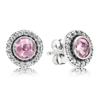 PANDORA Brilliant Legacy with Pink CZ Stud Earrings-347047