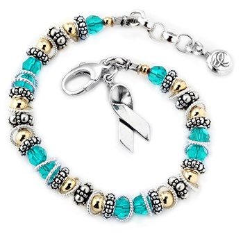 217088-Ovarian/Cervical/Uterine Cancer - Spectacular Awareness Bracelet