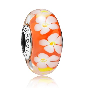 PANDORA Tropical Flower Murano Glass RETIRED LIMITED QUANTITIES!