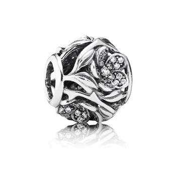 PANDORA Mystic Floral with Clear CZ Openwork Charm RETIRED