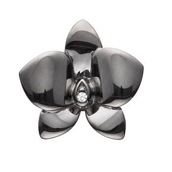 STORY by Kranz & Ziegler Black Rhodium Tiny Orchid Button-346891