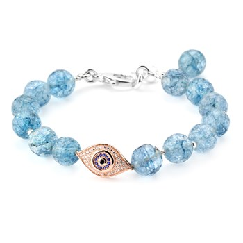 346063-Lollies Blue Quartz Evil Eye Bracelet