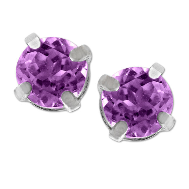 321365-Child Amethyst Stud Earrings