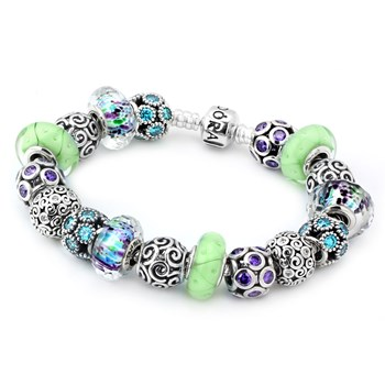 1185-PANDORA Just Add Water Charm Bracelet