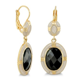 Black & Grey 'Prince Charming' Earrings-342680