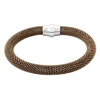 343264-Sterling Silver Brown Bangle