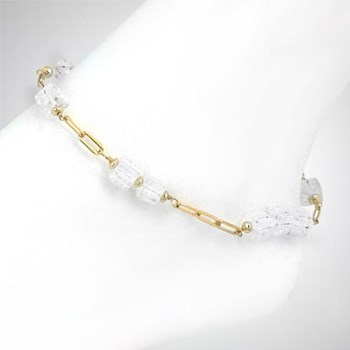 271721-Quartz Crystal Anklet