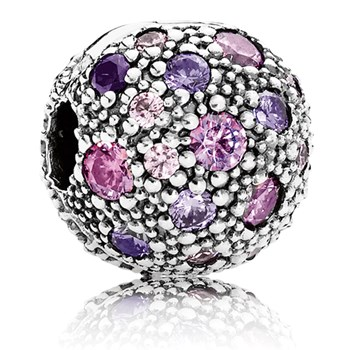 PANDORA Cosmic Stars with Fancy Purple and Multi-Colored CZ Clip-346983
