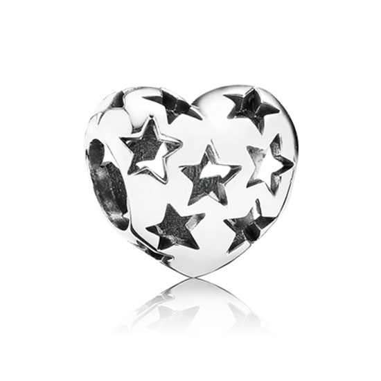348165-PANDORA Starry Heart Charm *PANDORA Shop in Shop Exclusive*