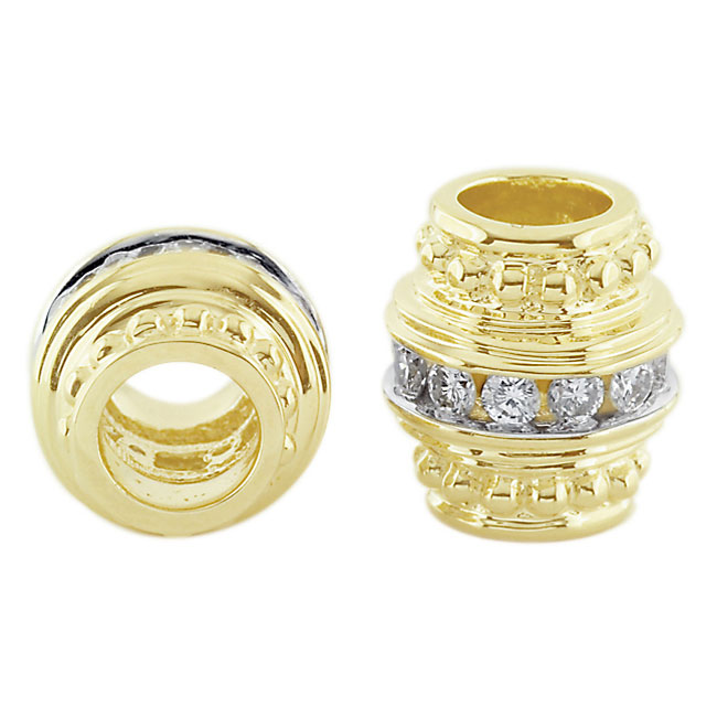 300988-Storywheels Barrel with Diamond Spacer 14K Gold Wheel ONLY 3 AVAILABLE!
