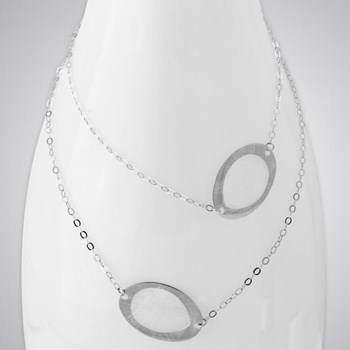 343273-Open Oval Necklace ONLY 4 LEFT!