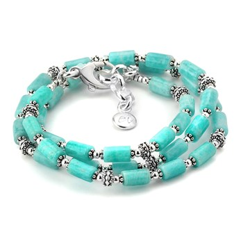 348267-Amazonite Triple Wrap Bracelet