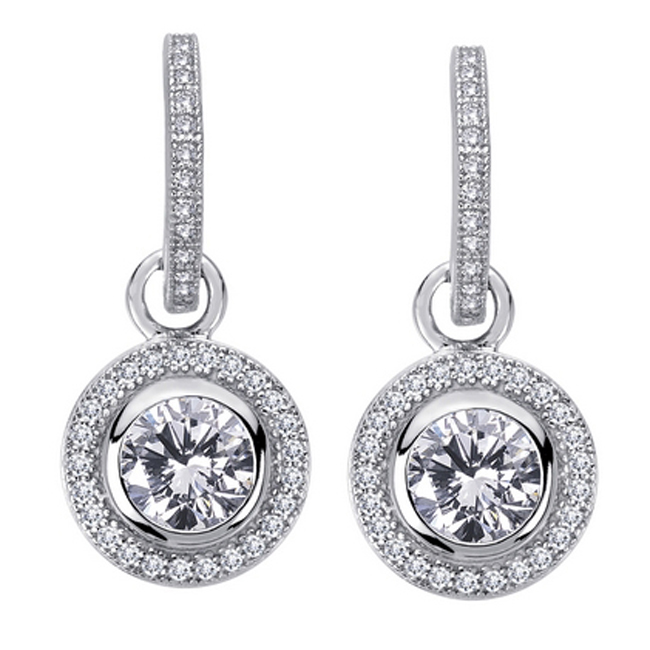 655-2926-Round Bezel Drop Earrings