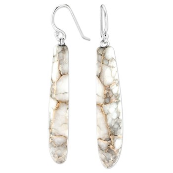 Silver in Quartz Earrings-343401