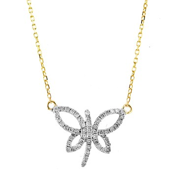 Dragonfly Diamond Necklace-341569
