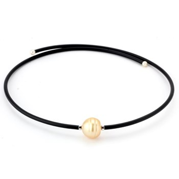 Golden South Sea Pearl Wrap Necklace-343368