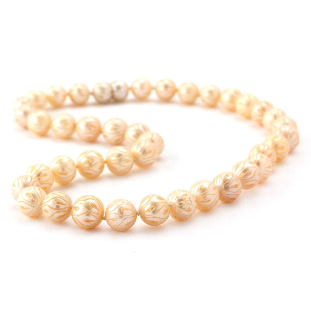 343725-Galatea Carved Peach Pearl Necklace