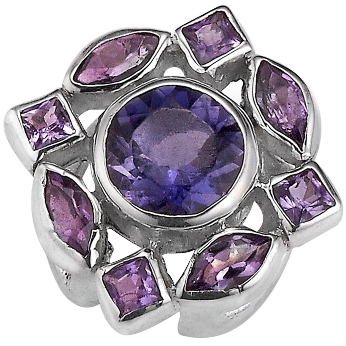 338682-Lori Bonn Violets are Blue Slide Charm LIMITED EDITION ONLY 5 LEFT!