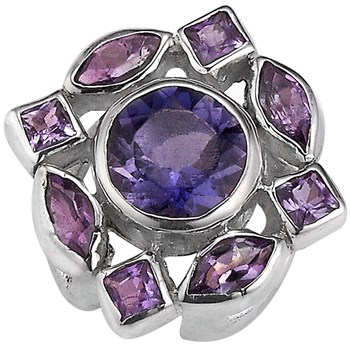 338682-Lori Bonn Violets are Blue Slide Charm LIMITED EDITION ONLY 2 LEFT!