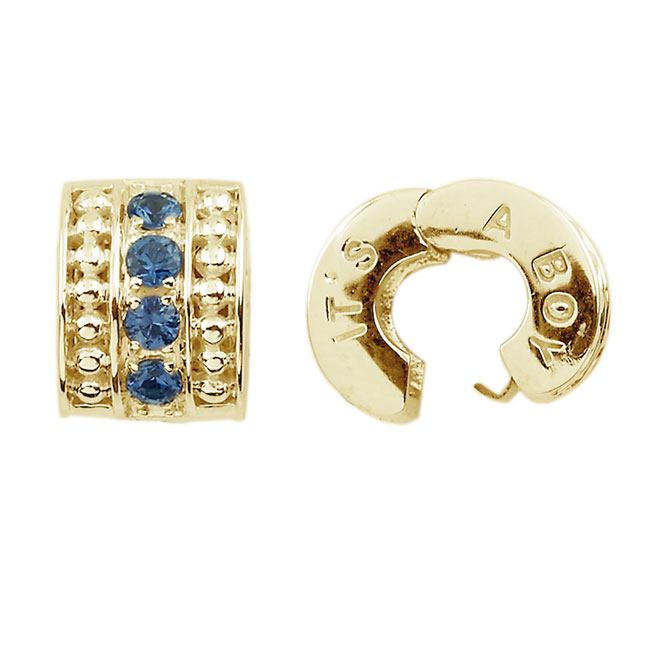 282932-Storywheels It's A Boy Ceylon Sapphire 14K Gold Clip ONLY 1 AVAILABLE!