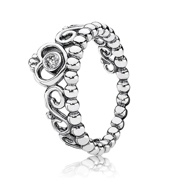 PANDORA My Princess with Clear CZ Stackable Ring