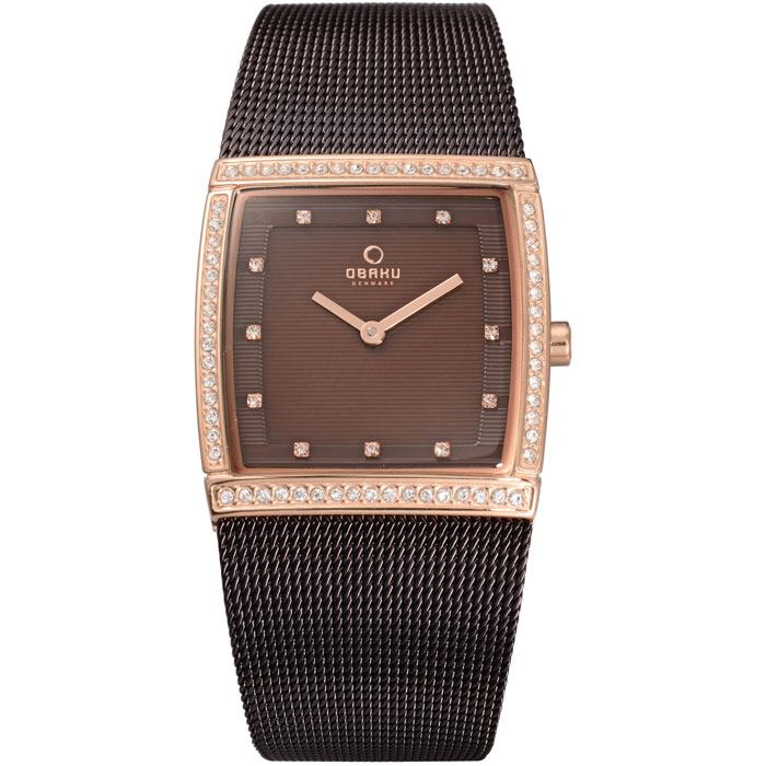 500-33-Obaku Women's Brown Mesh Watch