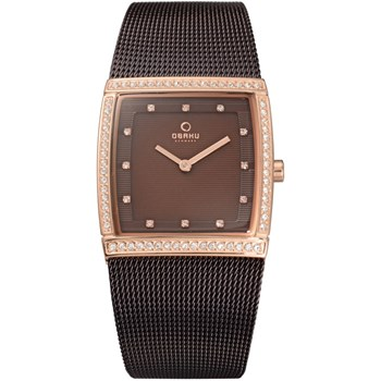 Women's Brown Mesh Watch-500-33