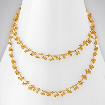 Citrine 14KTGF Necklace
