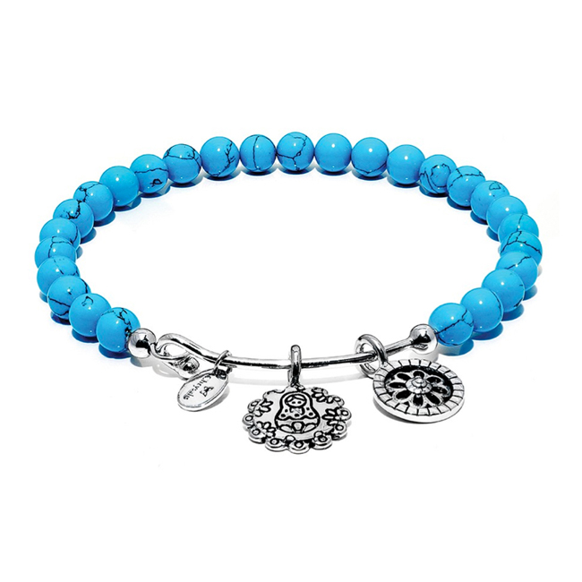 345088-Turquoise MOTHER DOLL Bangle - Chrysalis Guardian Collection
