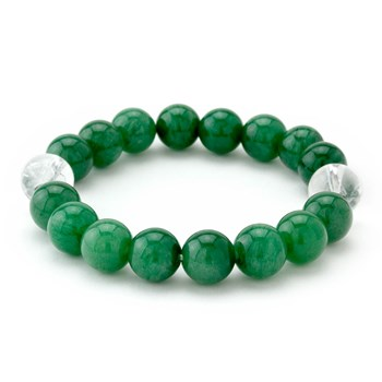 Green & Clear Stretch Bracelet-655-3304