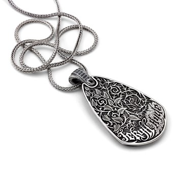 606-00031-William Henry- Jekyll + Hyde Silver Edition Guitar Pick Necklace