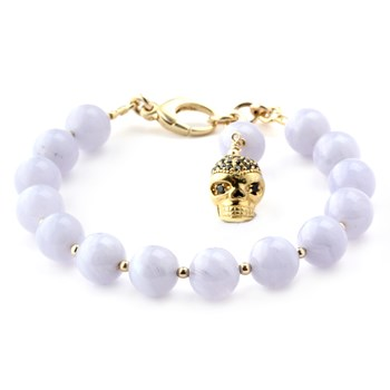 346008-Lollies Blue Lace Agate Skull Bracelet