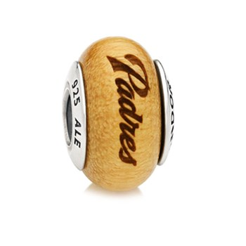 PANDORA San Diego Padres Baseball Wood Charm RETIRED LIMITED QUANTITIES!