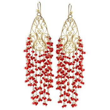 349304-Dyed Red Quartz Earrings