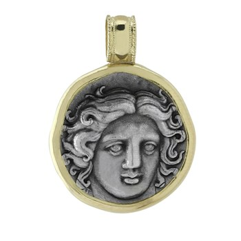 605-1120-Greek Drachma Coin Pendant