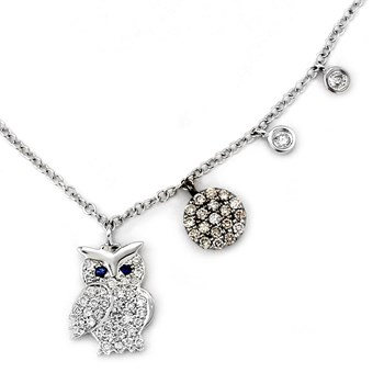 Diamond Owl Necklace-341852