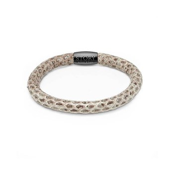 STORY by Kranz & Ziegler Single Wrap Natural Snakeskin Bracelet