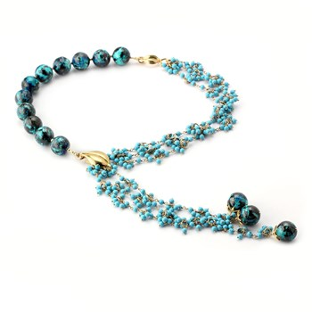 347564-Chrysocolla & Turquoise Necklace