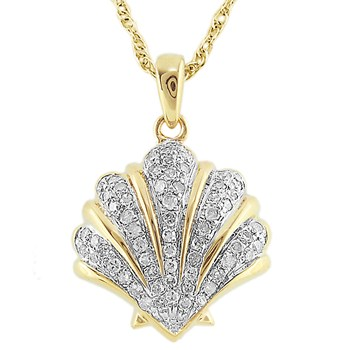 341550-Diamond Shell Pendant