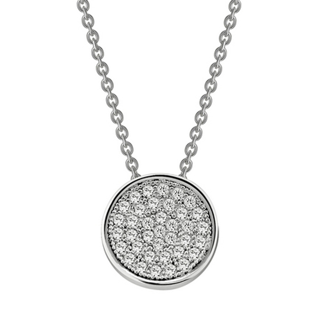 341021-Round Pavé Necklace