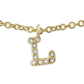 "Diamond ""L"" Necklace-341770"