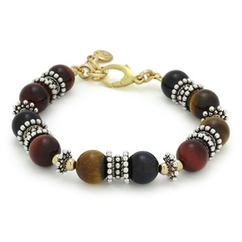 Tri-Color Tiger Eye Bracelet-240-3318