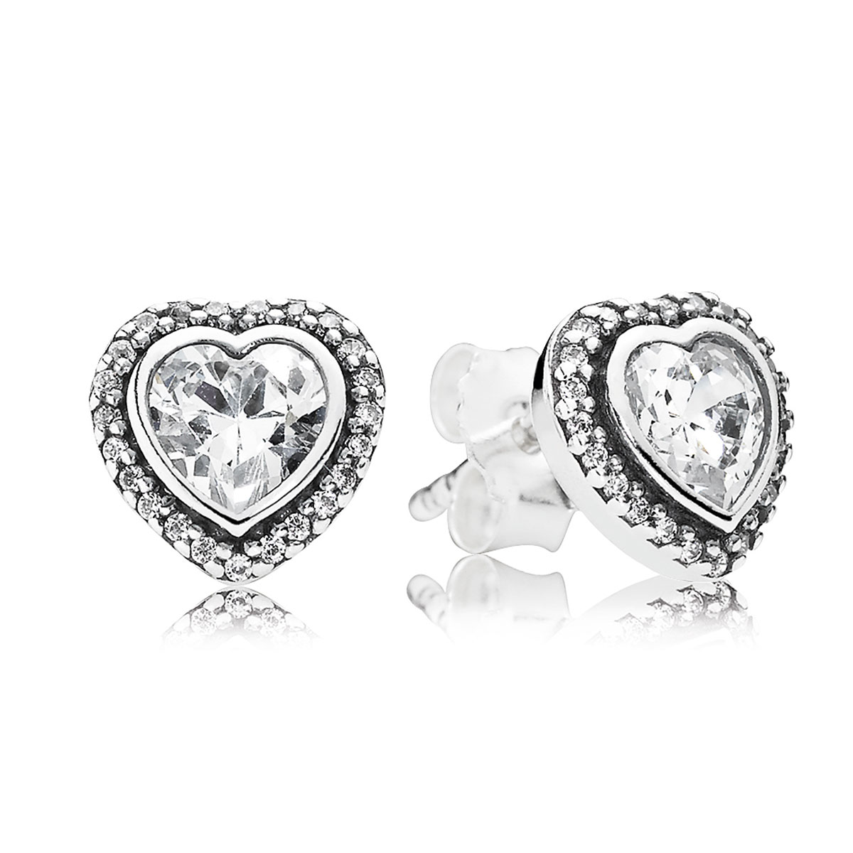 804-390-PANDORA Sparkling Love with Clear CZ Stud Earrings