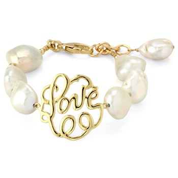 345395-Lollies White Pearl Love Bracelet