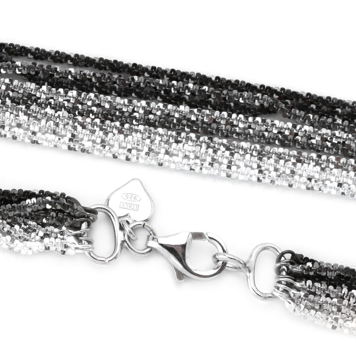 342046-28'' 8 Strand Tinsel Rope Necklace