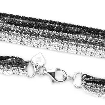 28'' 8 Strand Tinsel Rope Necklace-342046