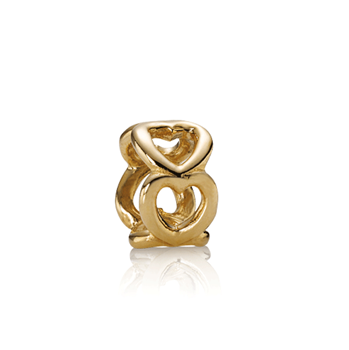 PANDORA 14K Open Heart Spacer-334438